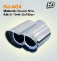 Kipufogóvég, Perforált, AC Schnitzer-Design Típus (145/90/54mm)